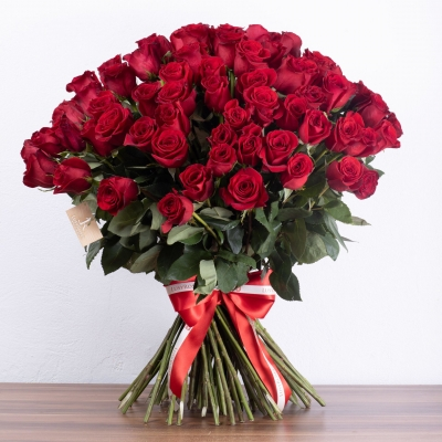 lusy roses bukréta - 100 ruží